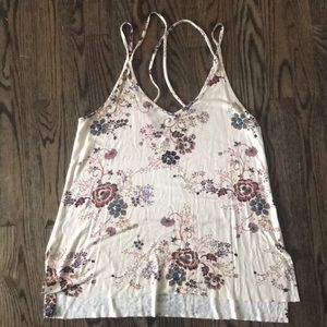 American Eagle loose fitting flower tank top